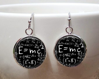 Math Teacher gift Math Earrings -energy formula earrings- Science Teacher