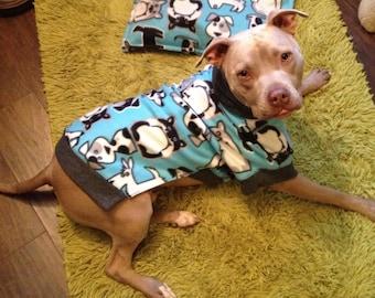 CUSTOM SIZE & PRINT Fleece Dog Sweater - Large to Extra Large