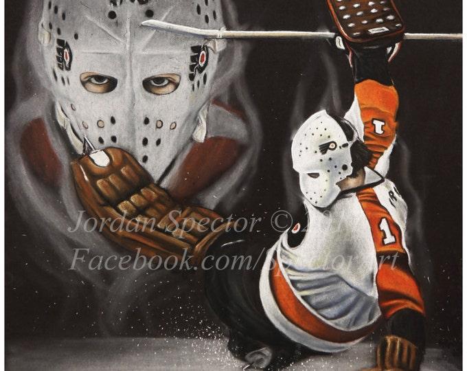 Bernie Parent Painting - Philadelphia Flyers - Art Print - Philadelphia - Man Cave - Flyers  - Dorm Decor - Flyers Fans - Limited Edition