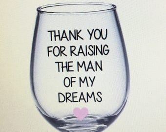 Mother in law wine glass. Mother in law gift. Mother in law. In laws gift. Mother of the groom. Mother of the groom gift.