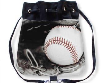 Baseball Cinch Bag-Drawstring Bag-Crossbody Bag-Baseball Backpack-Boho Backpack-Cinch Sack-Baseball Sling Bag-Sports Bag-Team Mom Gift
