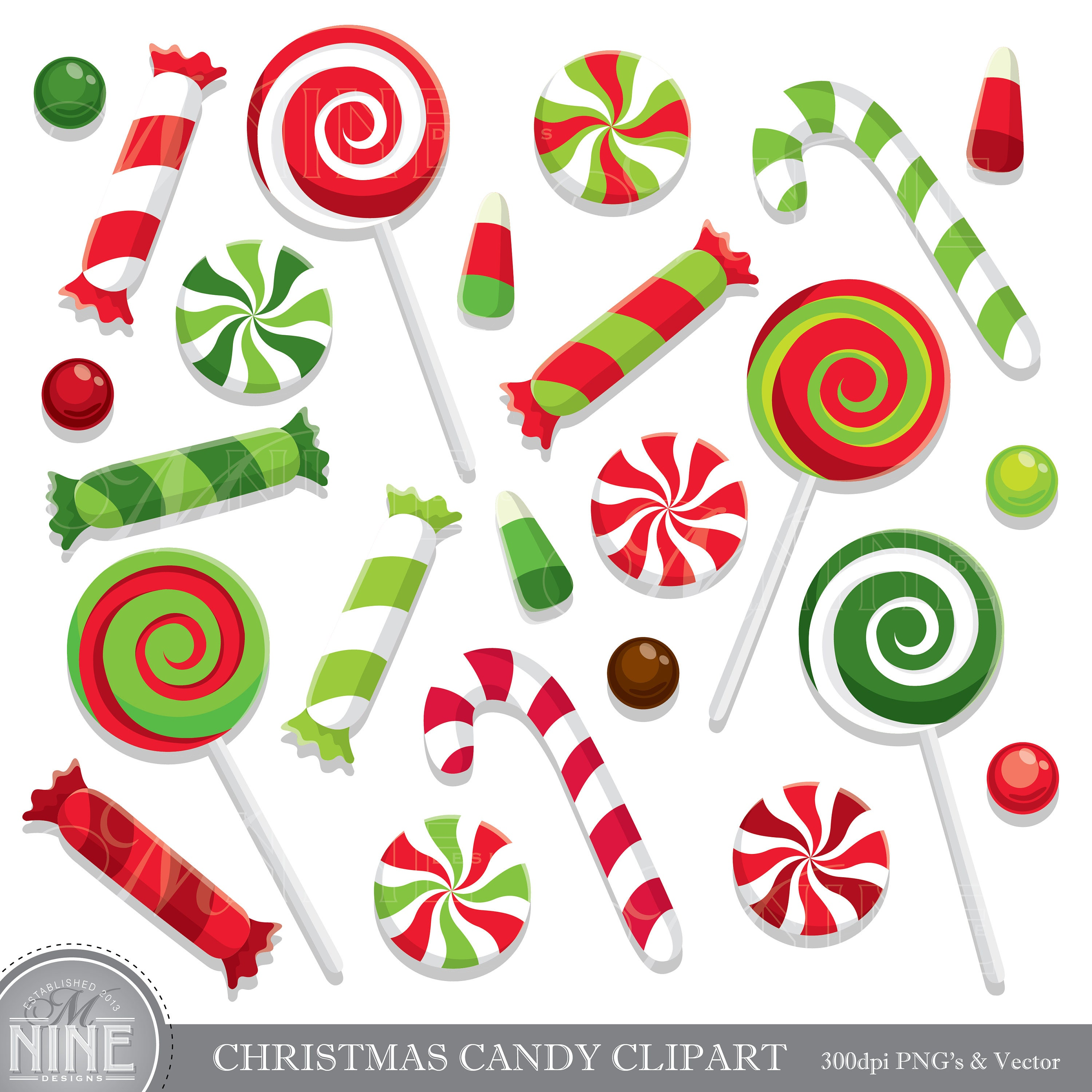 christmas candy clip art holiday candy clipart downloads rh etsy com christmas candy clipart black and white christmas candy border clipart