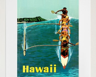 Hawaii Travel Poster Hawaiian Decor Wall Art Print (ZT273)