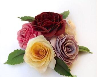Single open rose 6cm, gumpaste sugar flower for wedding celebration cake