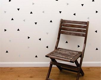 Triangle wall decals, nursery wall stickers, geometric shape, vinyl decals for walls, triangle, set of 50, diamond triangle shape, modern