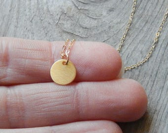Initial Coin necklace  Gold coin necklace Initial gold necklace Personalized necklace Dainty coin necklace Personalized coin necklace Dainty