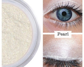 Pearl White Eyeshadow, Mineral Cosmetics, Natural Eye Shadow, Pearl Finish,  Mineral Eye Color, Vegan Cruelty Free, White Shimmer, Wet Dry