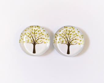 The 'Tree Of Life' Glass Earring Studs