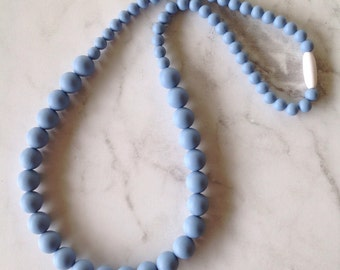 SALE! Silicone Teething Necklace - Blue