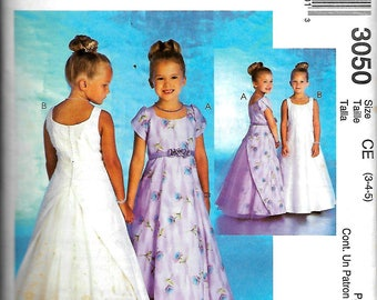 "McCall's 3050    Childrens, Little Girls and Toddlers ""Special Occassion"" Dress   Size 3,4,5"