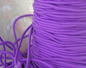 5yds Elastic Thin Bands 2mm - Skinny Elastic Cord String Headband Purple thin stretch bands cording exx
