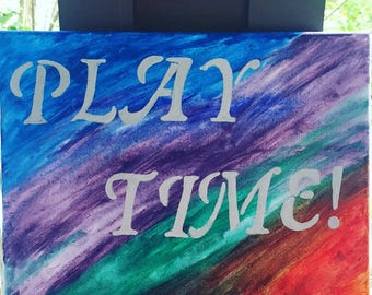 Play Time Canvas Wall Art
