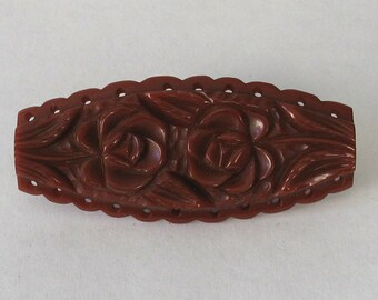SALE Authentic Vintage Bakelite  Rusty Rose  Brooch