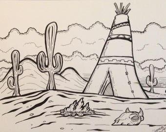Original cartoon artwork