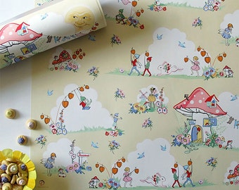5 sheets of sunny days wrapping paper