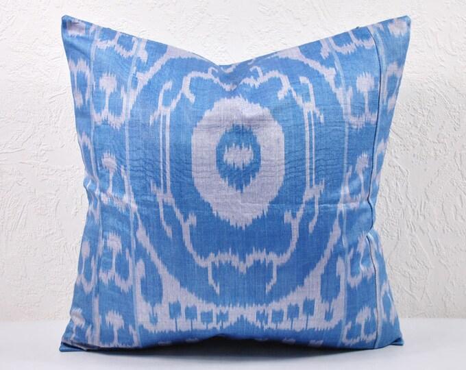 Ikat Pillow, Handmade Ikat Pillow Cover  IP80 (A123-2AA3), Ikat throw pillows, Designer pillows, Decorative pillows, Accent pillows