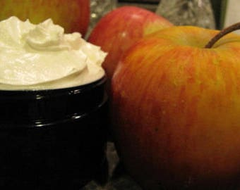 Apple Lotion, Green Apple Lotion, Apple Body Butter, Whipped Lotion, Shea Butter, Cocoa Butter, Kokum Butter, Coconut Oil, 8 oz, 4 oz, 2 oz