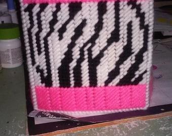 pink zebra tissue box