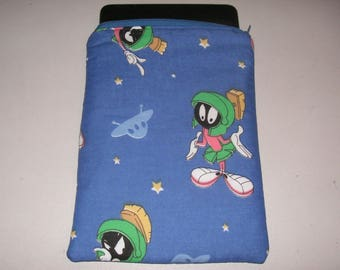 "Marvin Martian Looney Tunes cartoon handmade zipper fabric 7"" mini ipad Galaxy Kindle Fire Nexus case sleeve cover pouch tablet"