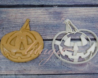 Halloween Pumpkin cookie cutter, Jack O'Lantern cookie cutter,  A Halloween Cookie cutter