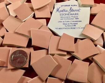 100 Millennial Pink Broken China Mosaic Tiles
