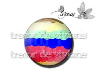 Multicolor cabochon glass, Retro, color, colorful, hand PA450