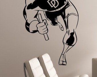 Daredevil Wall Sticker Vinyl Decal Marvel Comics Art Decorations for Home Housewares Bedroom Kids Boys Room Superhero Decor ddl5