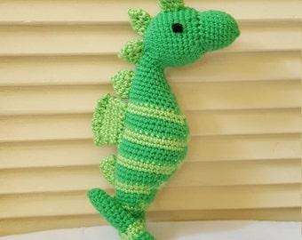 Seahorse Stuffed Animal Crochet Toy/ Amigurumi Plush Doll/ Sea Horses/ Handmade Toys/Seahorses/ Sea Life Stuffed Animals For Children
