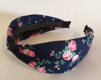 Ladies Headband: Wide-Vintage-Flowers printed material