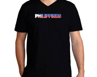 Philippines Country Flag V-Neck T-Shirt