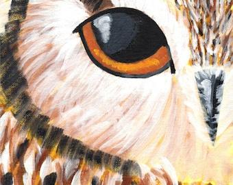 "The Owl's Eye - 8x10"" acrylic painting"