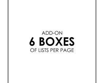 Add List Pages - 6 Box