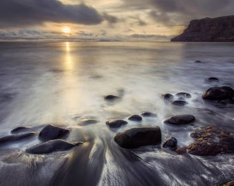 Landscape Photography, Talisker Bay Sunset, Isle of Skye, Scotland