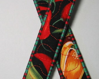 Chilli pepper bookmark - red and green trim