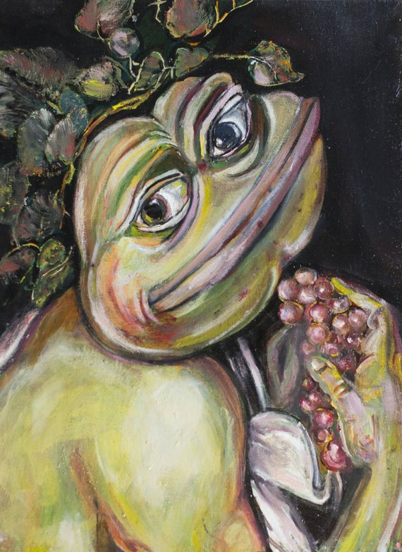 Young Sick Bacchus Pepe the Frog P...