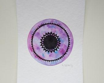 "original mini painting ""purple mandala"""
