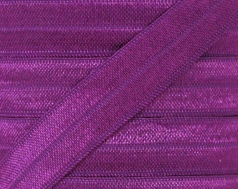 Ultra Violet Fold Over Elastic - Elastic For Baby Headbands and Hair Ties - 5 Yards of 5/8 inch FOE