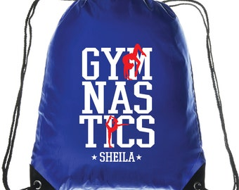 Gymnastics Drawstring Backpack