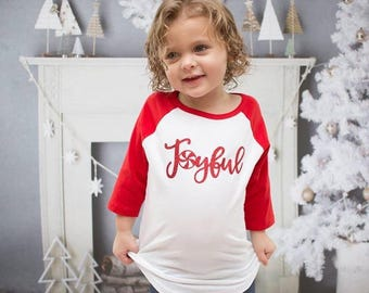 Joyful shirt, girls christmas shirt, mommy and me christmas shirt, toddler girl christmas shirt, christmas shirt for women, joyful christmas