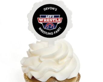 Wrestling Cupcake Etsy