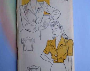 Vintage 40s Unused Blouse Pattern 40 Bust Gold Seal Pattern