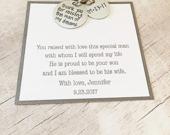 Father of the Groom Gift from Bride - Thank you for Raising the Man of my Dreams - Father of the Groom - Gift from Bride