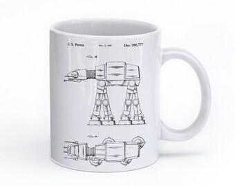 Star Wars AT AT Walker Mug, Star Wars Gift, Starwars Print, Star Wars Coffee Mug, Star Wars Tea, PP0224