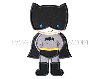 Batman Boy Applique Design