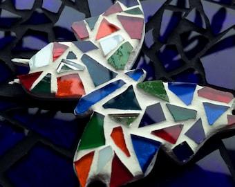 butterfly glass magnet/ fridge magnet/ stain glass butterfly/ mosaic/ mosaic tiles