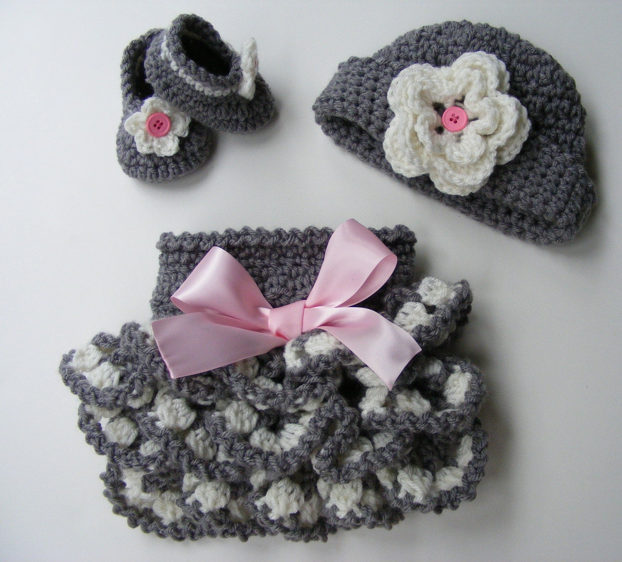 Crochet Pattern Ruffled Diaper Cover Pattern Shoe Pattern Bootie ...
