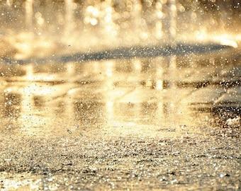Fine Art Photography, Droplets, Golden Photography, Gold, Sparkling Photography, Sparkling Droplets Photography