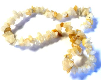 DESTASH SALE Beads Golden Agate Small Chip Gemstone Beads 14 Inch Strand New