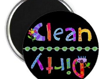 KidGlo Clean Dirty Dishwasher Magnet