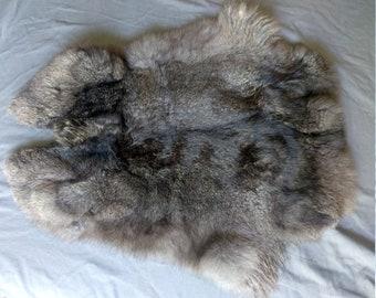 Large Black Rabbit Pelt